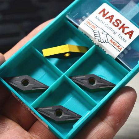 VNMG160404加硬钢件专用车刀片35度菱形数控车刀粒双色涂层