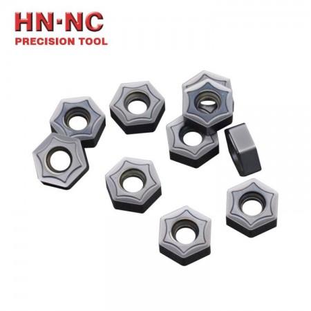 海纳HNMX050410-MM六角形硬质合金数控铣刀片