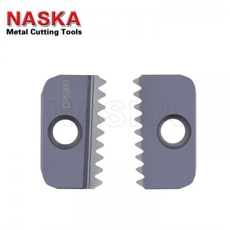 纳斯卡12-19 BSPT 【内外螺纹通用】英制锥管螺纹硬质合金螺纹铣刀片梳刀