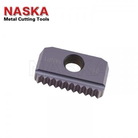 纳斯卡12-18 NPSF 【内外螺纹通用】美制干密封直管螺纹梳刀螺纹铣刀片