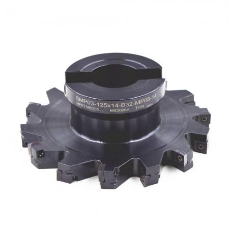 海纳SMP03-125×12-B32-MP08-14三面刃铣刀错齿千鸟刃开槽侧铣数控刀具刀盘