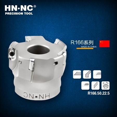 海纳R166.63.22.5T圆鼻快进给铣刀盘50/63直径高速快进给R3圆弧铣刀盘