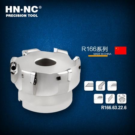 海纳R166.63.22.6T圆鼻快进给铣刀盘50/63直径高速快进给R3圆弧铣刀盘