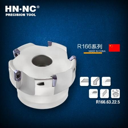 海纳R166.50.22.5T圆鼻快进给铣刀盘50/63直径高速快进给R3圆弧铣刀盘
